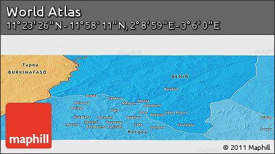 """Political Panoramic Map of the Area around 11°40'49""""N,2°37'30""""E"""