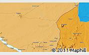 Political 3D Map of Ābu Ramla