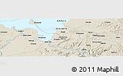 Shaded Relief Panoramic Map of Bahir Dar