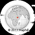 Outline Map of Nefas Meewcha, rectangular outline