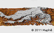 """Physical Panoramic Map of the area around 11°40'49""""N,39°10'29""""E"""