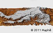 Physical Panoramic Map of Boya