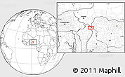 """Blank Location Map of the area around 11°40'49""""N,3°28'30""""E"""