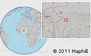 Gray Location Map of Anbéri-Goumbi
