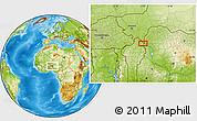 Physical Location Map of Anbéri-Goumbi