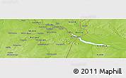 """Physical Panoramic Map of the area around 11°40'49""""N,3°28'30""""E"""