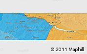 """Political Panoramic Map of the area around 11°40'49""""N,3°28'30""""E"""