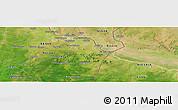 "Satellite Panoramic Map of the area around 11°40'49""N,3°28'30""E"