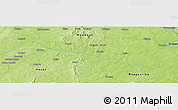 Physical Panoramic Map of Boromo