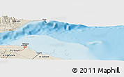 Shaded Relief Panoramic Map of Djibouti