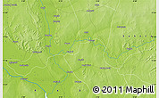 """Physical Map of the area around 11°40'49""""N,4°19'30""""E"""