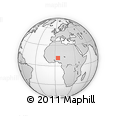 """Outline Map of the Area around 11° 40' 49"""" N, 4° 19' 30"""" E, rectangular outline"""