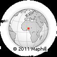 Outline Map of Mahuta, rectangular outline