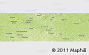 Physical Panoramic Map of Pempéréna