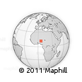 """Outline Map of the Area around 11° 40' 49"""" N, 6° 1' 30"""" E, rectangular outline"""