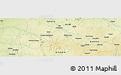"""Physical Panoramic Map of the area around 11°40'49""""N,6°52'30""""E"""