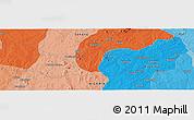 Political Panoramic Map of Bakai