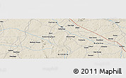 """Shaded Relief Panoramic Map of the area around 11°40'49""""N,6°52'30""""E"""