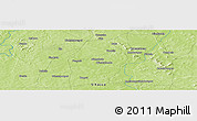 Physical Panoramic Map of Bada