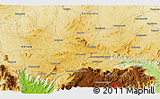 """Physical 3D Map of the area around 11°40'49""""N,76°34'29""""E"""