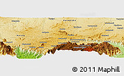 """Physical Panoramic Map of the area around 11°40'49""""N,76°34'29""""E"""