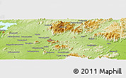 "Physical Panoramic Map of the area around 11° 40' 49"" N, 78° 16' 30"" E"