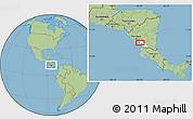 Savanna Style Location Map of Masatepe