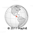 Outline Map of La Natividad, rectangular outline