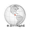 """Outline Map of the Area around 11° 40' 49"""" N, 87° 28' 29"""" W, rectangular outline"""