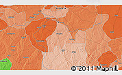 """Political 3D Map of the area around 11°40'49""""N,8°34'29""""E"""