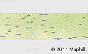 """Physical Panoramic Map of the area around 11°40'49""""N,8°34'29""""E"""