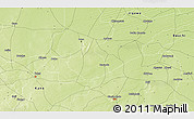 """Physical 3D Map of the area around 11°40'49""""N,9°25'30""""E"""