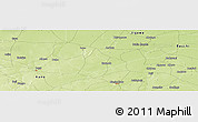 """Physical Panoramic Map of the area around 11°40'49""""N,9°25'30""""E"""