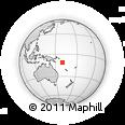 Outline Map of Bellona Island, rectangular outline