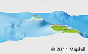 """Physical Panoramic Map of the area around 11°20'3""""S,159°52'30""""E"""