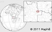 Blank Location Map of João Chagas