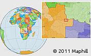 Political Location Map of João Chagas