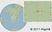 Savanna Style Location Map of João Chagas, hill shading