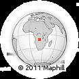 Outline Map of João Chagas, rectangular outline