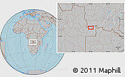 Gray Location Map of Caembe, hill shading