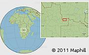 Savanna Style Location Map of Caembe