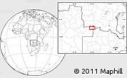 Blank Location Map of Caluache