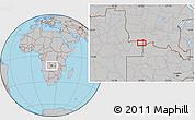 Gray Location Map of Caluache