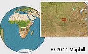 Satellite Location Map of Caluache