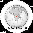 Outline Map of Caluache, rectangular outline