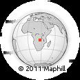 Outline Map of Mwanauta, rectangular outline