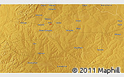 """Physical 3D Map of the area around 11°20'3""""S,28°58'30""""E"""
