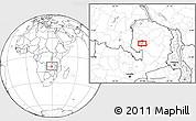 Blank Location Map of Samfya