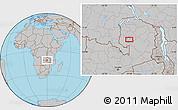 Gray Location Map of Samfya