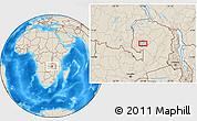 Shaded Relief Location Map of Samfya